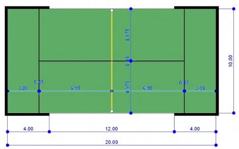 Pista de padel medidas precios fabricaci n y reservas for Pista de padel individual